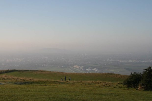 Running on Cleeve Hill