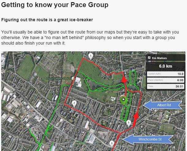 Getting to know your pace group