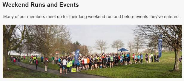 Weekend Runs and Events