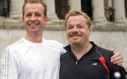 Greg Wyte and Eddie Izzard