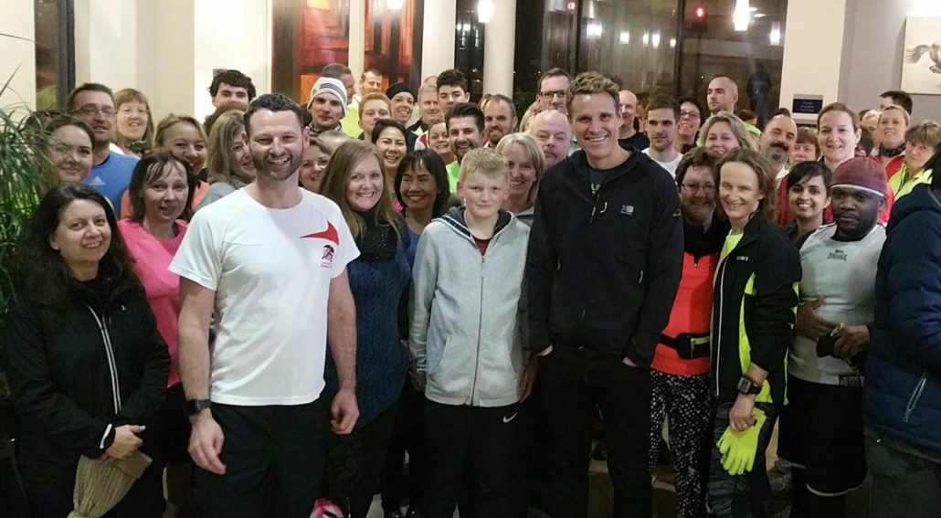 James Cracknell with Cheltenham Running Club