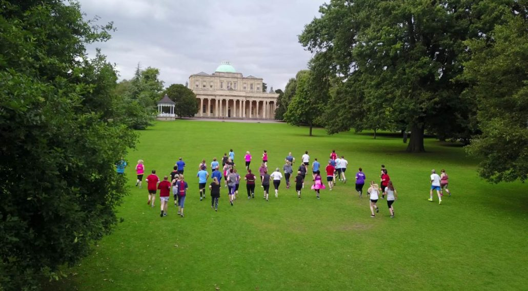 Running at the Pump Rooms