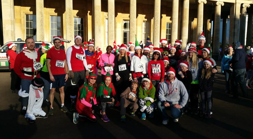 Santa Run in Pittville Park Cheltenham